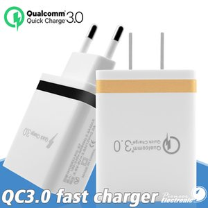 QC 3.0 rápida de parede carregador de viagem Mic USB 3A adaptador de carga Telefone Adaptadores UE US portátil de carregamento rápido para iPhone 11 Pro Max Samsung Android