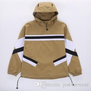 Mens Hot Sale Windbreaker Thin Patchwork Hoodies Print Long Sleeve Casual Loose Clothing Contract Color Hoodie