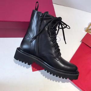 Yıldız Trail Ayak Bileği Çizmeler Moda Lüks Bayan Tasarımcı Patik Klasik Monogram Tıknaz Topuk Martin Çizmeler Kadın Çöl Botları Ayakkabı