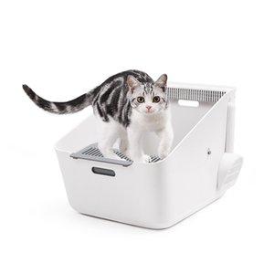 Pet Induction Clean Flavor Cat Toilet Cat Sand Pot to Prevent Large Clean Flavor Deodorizing Battery Deodorization litter box