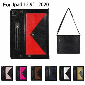 Envelope style case for iPadPro12.9 2018 Tablet sleeve PU leather case for iPadPro12.9 2020 Case Fundas With Shoulder Strap
