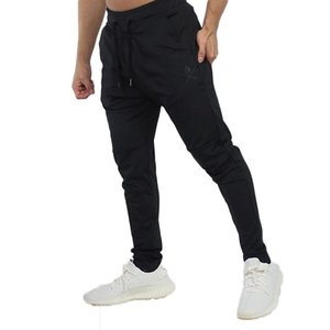 Fashion Men Casual Elastic Waist Sweatpants Fashion Sports Long Pants Running Joggers solid Slim Fit Trousers with M-2XL