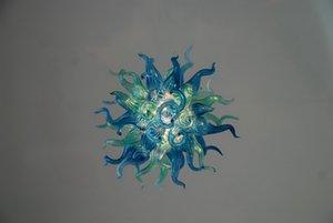 Creative Design Blue Crystal Люстра Элегантная Красивая Рука выдувное стекло Villa освещение Люстра для столовой