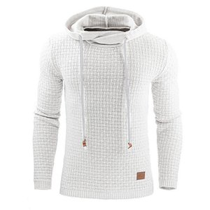 Men's Jacquard Sweater Long Sleeve Hoodie Mens Warm Color Hooded Tops 2019 New Arrival Fashion Sweatshirt Jacket Casual Plus Size S-4XL