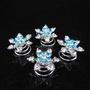 Women Bridal Headdress Hair Jewelry Snowflake Hair Clips Girl Diamond Hair Accessories Hairpin for Cosplay Party Favor LJJA3618-7
