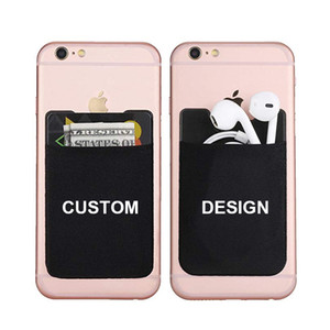 Multifunctional Personalized Logo 3M Back Sticker For Mobile Phone Self Adhesive Smart Card Wallet For Cell Phone