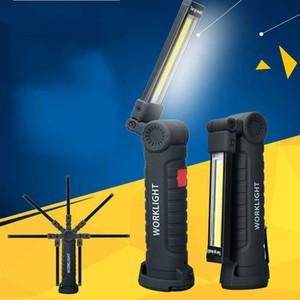 COB LED Lámpara USB recargable Trabajo Aprendizaje LED Luz con imán Linternas portátiles Linternas para equipo de campamento 21 5fx E1