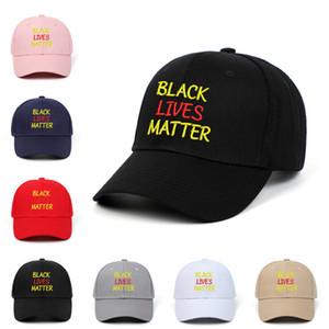 Ich kann nicht Baseball-Mütze Schwarz Lives Matter Parade Caps Sonnenschutz Stickerei Caps Party-Hüte T9I00429 Atmen