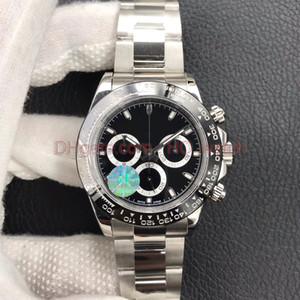 Vendita calda di sport Mens Watch Panda Nero automatico quadrante bianco 40mm Mens 7750 Sport Chronograph 116508-116500ln Cronografo Divers Guarda