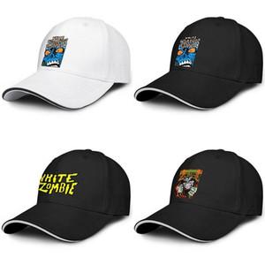Unisex beyaz zombi canavar Lugosi moda Beyzbol sandviç şapka golf En Iyi Kamyon sürücüsü kap logo sarı Metal Band müzik Burcu Danzig TAZ