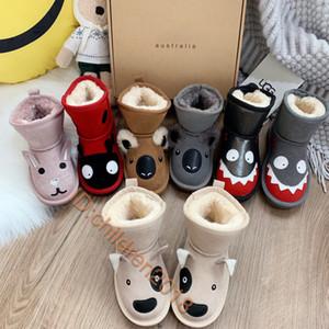 Lujo Evangugia Australia Niños Boot 2019 Chicos encantadores Niñas Botas de nieve Diseñadores Monster Peluche Mantenga cálido Trigo Zapatos para niños pequeños Tamaño 25-34