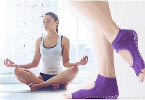 New digging hole cotton Yoga socks Ms. anti-skid exposed toe halter Short five finger socks sports socks free shipping wholesale
