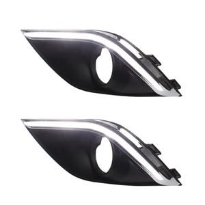 Automobiles Motos Feux De Voiture Assemblage De La Lumière De Voiture LED Brouillard Daytime Running Light Assemblage De La Voiture pour outlander 2015 2016