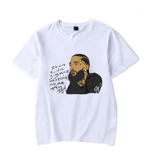 Rap tişörtleri erkek yaz beyaz baskılı rahat Sokak temel Tees kısa kollu Hombres 2019 nipsey hussle