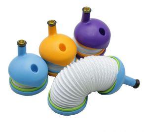 Bukket трубы телескопические Викки трубы пластиковые золоуловитель табак курительные трубки 4 цвета гравитационный Бонг стекло бонги гибкий силикон