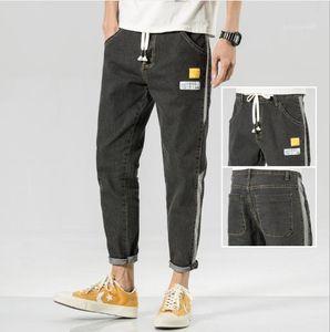 Print Zipper Male Apparel Solid Color Designer Mens Jeans Slim Holes Multi Pocket Pencil Pants Fashion