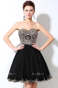 Sexy Black коктейльные платья 2020 осень-зима кристалл Sequined Backless тюль A-Line In Stock Homecoming платья LX028