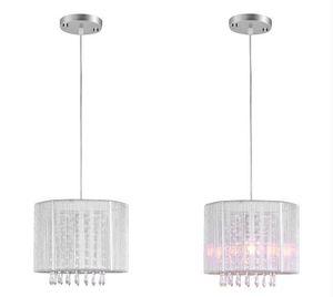 Moderne Schwarz Silber Brushed Kronleuchter LED-Lampen Kristall-LED Kronleuchter Wohnraumleuchten Lüster Pendelleuchte LED