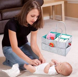 Sentido de tela bolsa de almacenamiento plegable del bebé de gran tamaño del pañal Caddie tabla cambiante Organizador juguete cesta del almacenaje del coche Organizador DHL