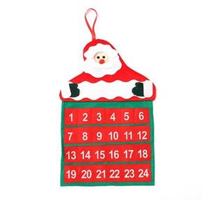 Banner kolye Noel süslemeleri 50pcs T2I5672 Asma Merry Christmas Noel Takvim Noel Baba Noel geri sayım Süsleme