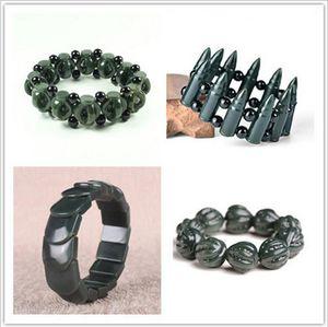 Natürliche Hetian Jade Hohl umschlag Armband Elastische Charme Schmuck Mode-accessoires Handgeschnitzte Amulett Geschenke