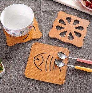 Hölzerner Becher Coasters Desktop-Mat Cup Mats Holz geschnitzt Cup Pads Shop-Bar Tee Kaffeetasse Halter Becher Tischset Home Decoration KKA7291
