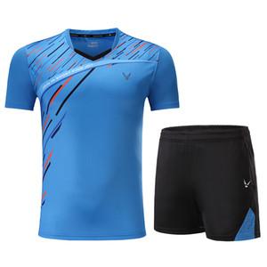 Impressão livre Qucik seco Badminton roupas esportivas Mulheres / Homens, roupas de tênis de mesa, terno de Tênis, conjuntos de desgaste de badminton 3859