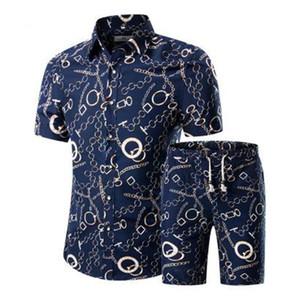 Combinaisons de sport hommes été respirant Short Set hommes 's Design Fashion Shirts + Shorts Survêtement Set Style Tendance Nouveau