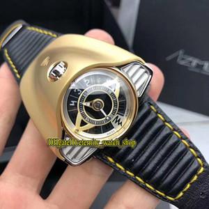 Edizione limitata Azimuth Gran Turismo Motor Racing Tema Dial sabbiatura PVD Acciaio Cassa svizzera Automatic Watch Mens Leather Orologi sportivi
