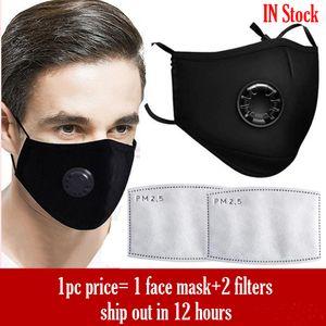 Avere in magazzino di protezione maschera valvola di respirazione Black Mask lavabile filtro di ricambio maschera all'ingrosso a pronti