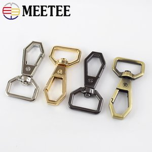 Meetee 10 pz 20mm Sacchetto di Metallo Snap Hook Chiusura Fibbia FAI DA TE Bagagli Borsa In Pelle Dog Collar Hardware Fibbie Accessori Craft BD448