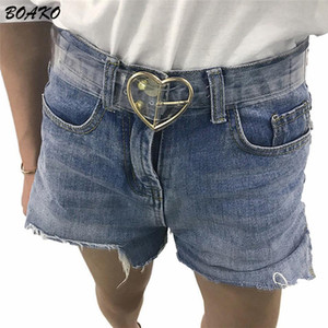 BOAKO Transparent Women Waist Belt Round Heart Pin Buckle Belt Cinturon Mujer Cinturones Fashion Lady Girls PVC Waistband Girdle