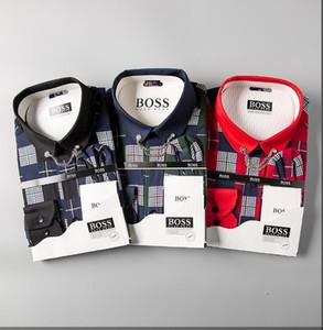 2019 العلامة التجارية رجال الأعمال عارضة اللباس قميص الرجال قصيرة الأكمام مخطط يتأهل الغمد الاجتماعية الذكور القمصان الجديدة فحص القمصان 2088