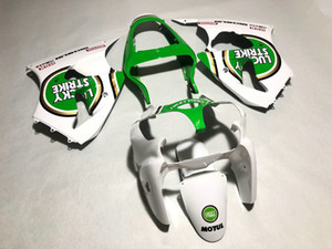Carénage pour carénage à injection pour KAWASAKI Ninja ZX6R 636 00 01 02 ZX 6R 2000 2001 2002 Carénage carénage blanc vert + Cadeaux GS14