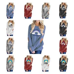 Mama Hoodie Urso 15 cores letra impressa Patched retalhos capuz Hoodies Natal Long Sleeve Shirts LJO7191