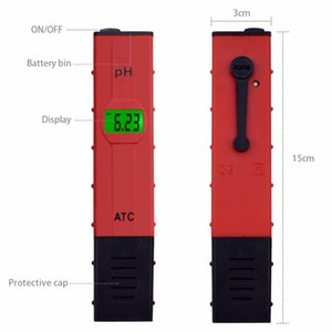 Digital PH meter 0-14 Pen-type pool Aquarium ph tester Drinking water purity analyzer Soil Paper ph meter 0.01 Accuracy