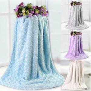 Одеяло Идеальный подарок Доступный В Фиолетовый Розовый Синий или серый Ldeal подарков высокого класса Solid Одеяло