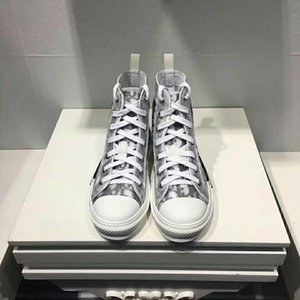 2020 New Men Women Casual Shoes Luxury Sneakers canvas ShoesChristianDİOR Top Quality Genuine Leather Embroidered EUR 35-45