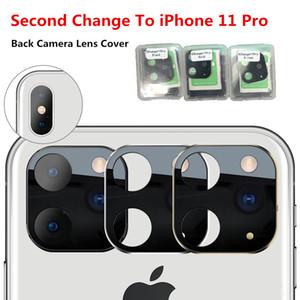 التغيير الثاني لفون برو 11 ماكس 2019 عدسة الكاميرا المعدنية زجاج الكاميرا الخلفية لين حامي حلقة آيفون X XS MAX الغطاء الواقي كاميرا