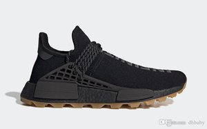 Newest Authentic Pharrell Williams x HU PRD Gum Pack Core Black Men Women Running Shoes Utility Black-Gum Human Race Sports Sneakers EG7836