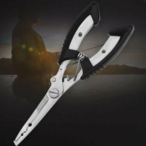 1PC Pesca alicates tijera trenza de alambre engañan la línea de corte Ganchos removedor Split Ring Tackle de herramientas de acero inoxidable