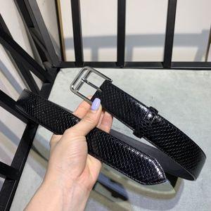 2020 high quality design men's and women's fashion belt genuine leather luxury belt brand belt gold silver black Imported serpentine cowhide