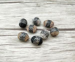 Miscela di colori Connettore pavimentato strass di cristallo, branelli allentati del distanziatore alla ricerca di gioielli che fanno collana fai-da-te BD356