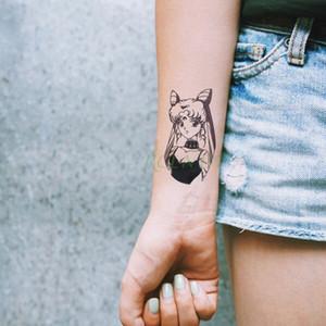 attoo arte de cuerpo tatuajes temporales impermeable niña de dibujos animados tatuaje temporal etiqueta Sailor Moon linda tatto falsa tatoo flash de tatuajes f ...