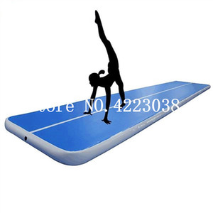 Freies Verschiffen 5 * 1 * 0.1m aufblasbare Matten-Gymnastik Air Track Taekwondo Air Cushion Martial Arts Training Jumpinflatable Gym Air Track