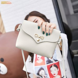 Women Shoulder Bag Simple Style Stylish Metal Bowknot Decorative Button Handbag Woman Pu Mini Messenger Crossbody Bag