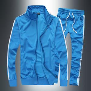Set Solid PADEGAO a righe tuta degli uomini di sport casuali del vestito degli uomini sportivo Zipper Hoodie + pantaloni di addestramento del vestito PDG1263