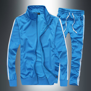 Conjuntos de Solid PADEGAO Striped Homens Treino Sports Casual Terno Homens Sportswear Zipper Hoodie Pants + terno treinamento PDG1263