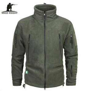 Mege marchio di abbigliamento cappotto degli uomini addensare Warm militare dell'esercito Fleece Jacket patchwork multi tasche Polartec uomo e cappotti LY191206