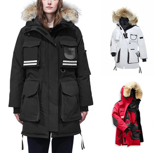 Women Warm Manteau Fur parka Reflective Goosefeather Hooded SNOW Thick Winter MANTRA Down Jacket for woman Chaquetas 3M female Parkas